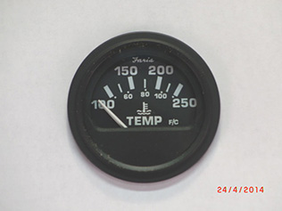 Water Temperature Electric Gauge 100 to 250  deg F.