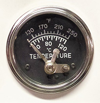 Water Temperature Switch Gauge-Front View